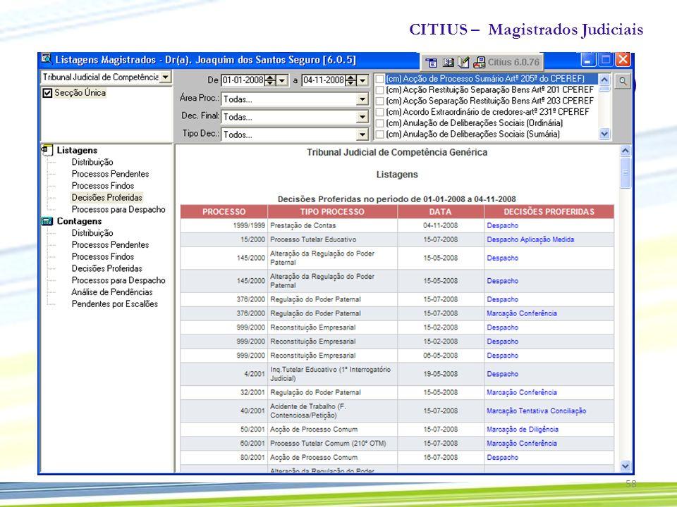 CITIUS – Magistrados Judiciais 58