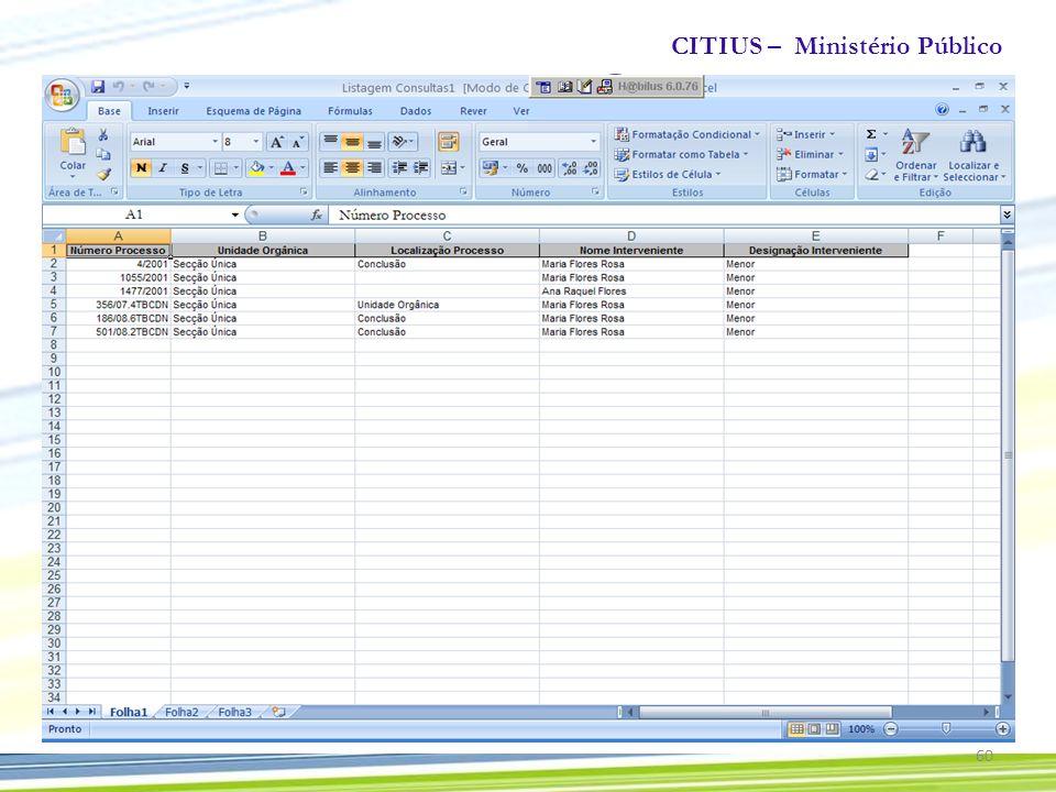 CITIUS – Ministério Público 60