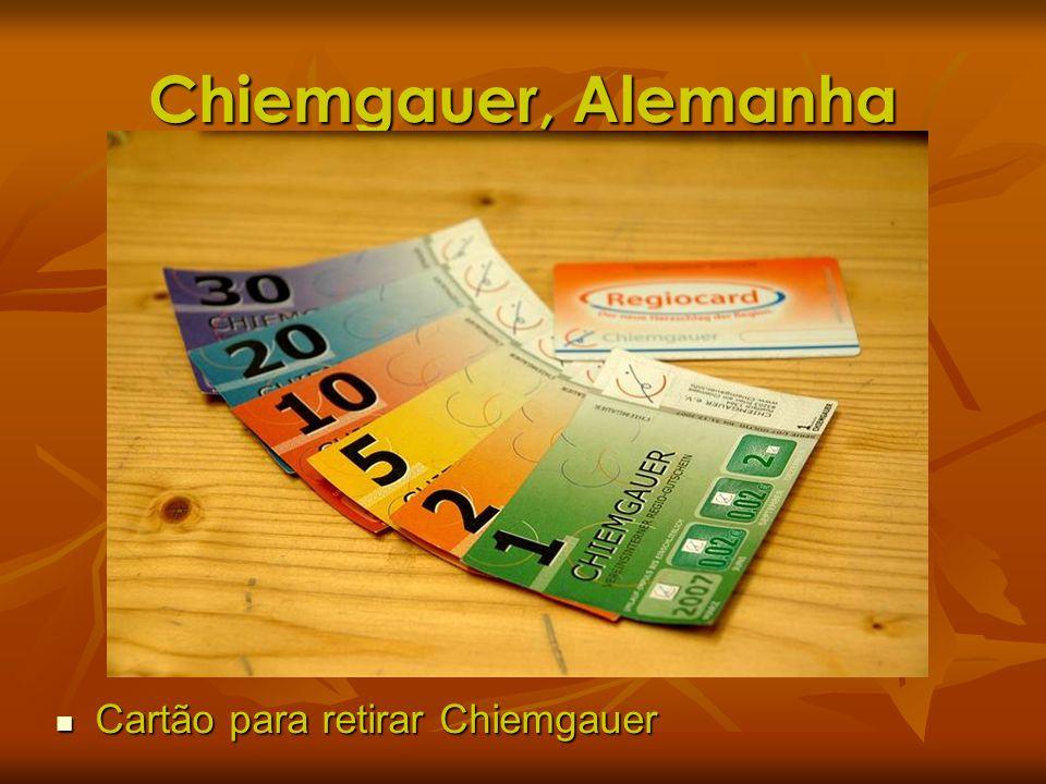 Chiemgauer, Alemanha Cartão para retirar Chiemgauer Cartão para retirar Chiemgauer