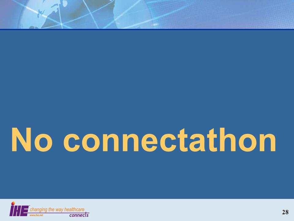 No connectathon 28