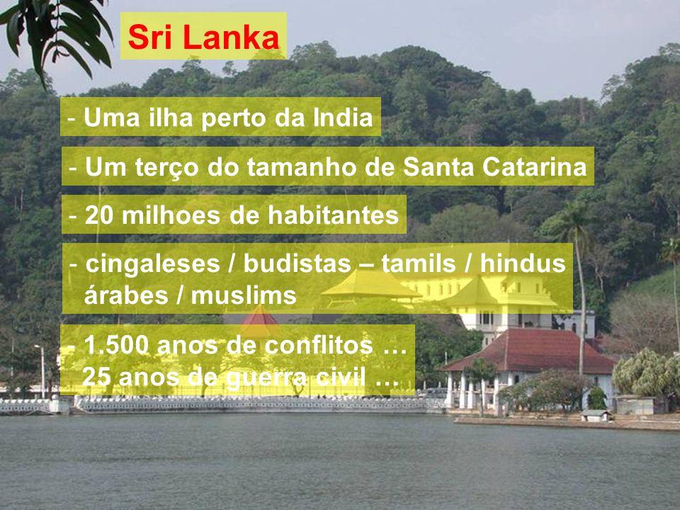 11/2007CACB - Congresso Nacional do Programa Empreender Sri Lanka - Uma ilha perto da India - Um terço do tamanho de Santa Catarina - 20 milhoes de ha