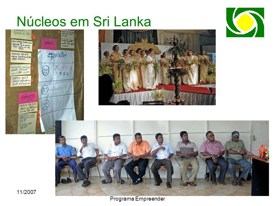 11/2007CACB - Congresso Nacional do Programa Empreender Núcleos em Sri Lanka