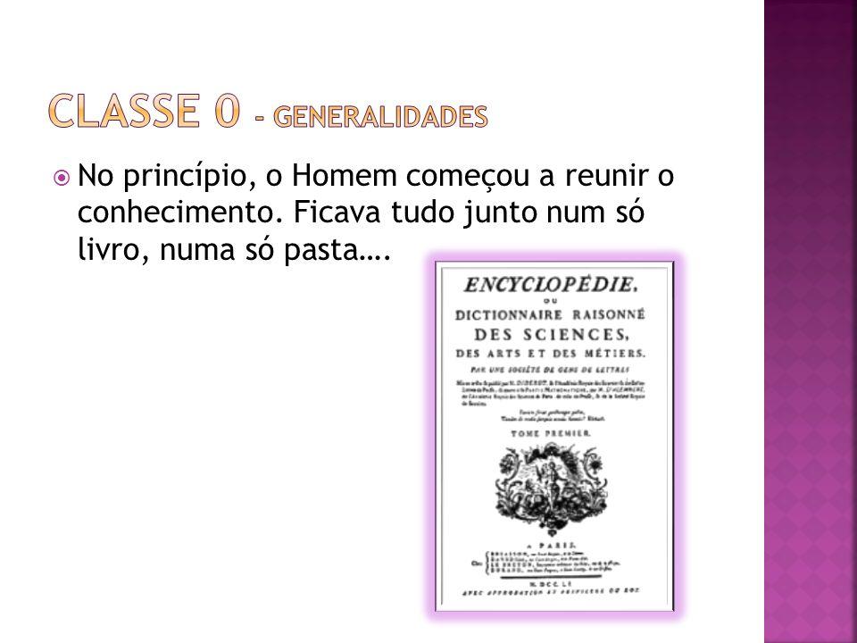 No princípio, o Homem começou a reunir o conhecimento. Ficava tudo junto num só livro, numa só pasta….