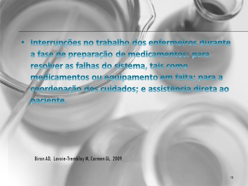 Biron AD, Lavoie-Tremblay M, Carmen GL. 2009. 10