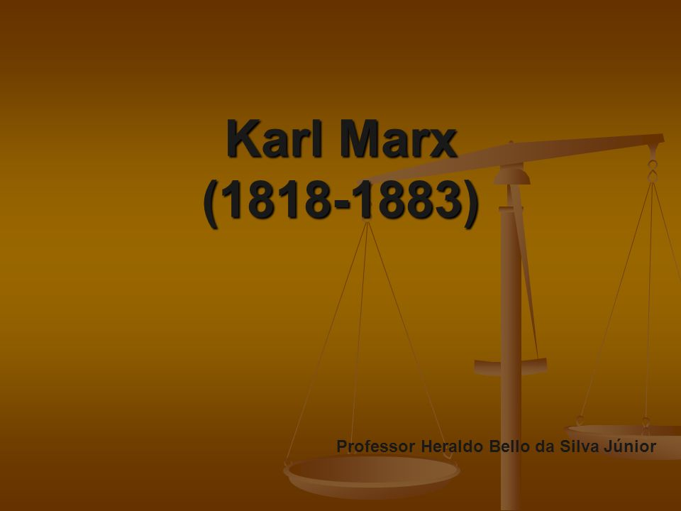 Karl Marx (1818-1883) talvez seja o mais conhecido cientista social e também o menos conhecido.