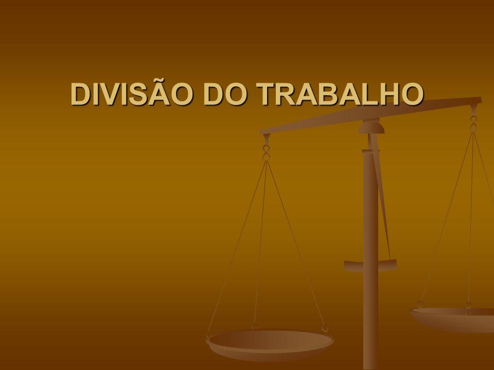 DIVISÃO DO TRABALHO