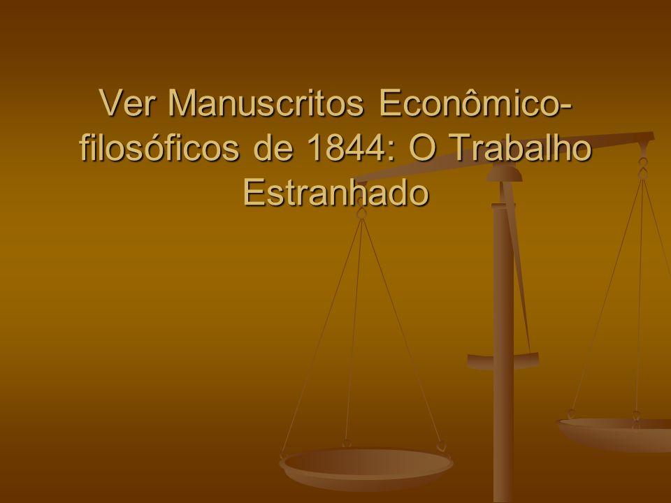 Ver Manuscritos Econômico- filosóficos de 1844: O Trabalho Estranhado