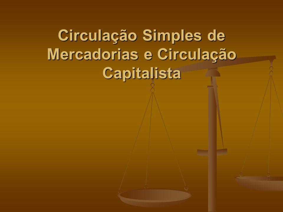 Circulação Simples de Mercadorias e Circulação Capitalista