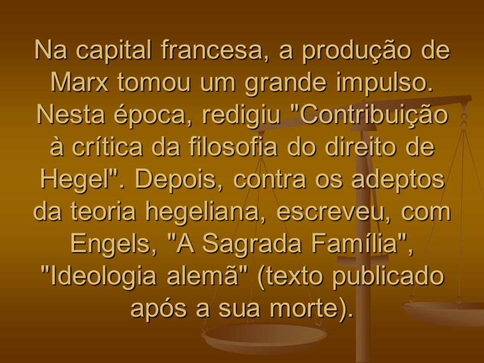 É indispensável segundo Marx, compreender a realidade histórica em suas contradições, para tentar superá-las dialeticamente.