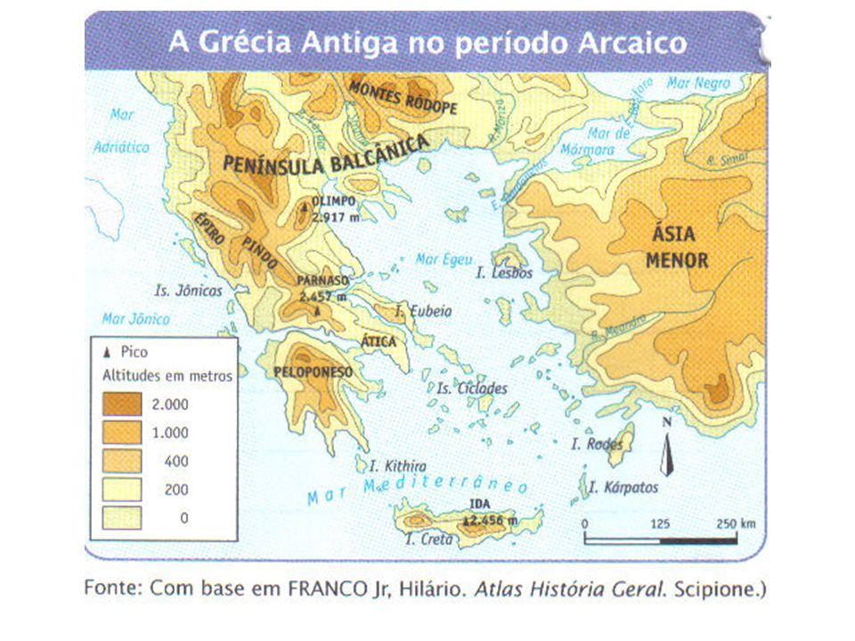 A Grécia antiga não era formada por um estado unificado.
