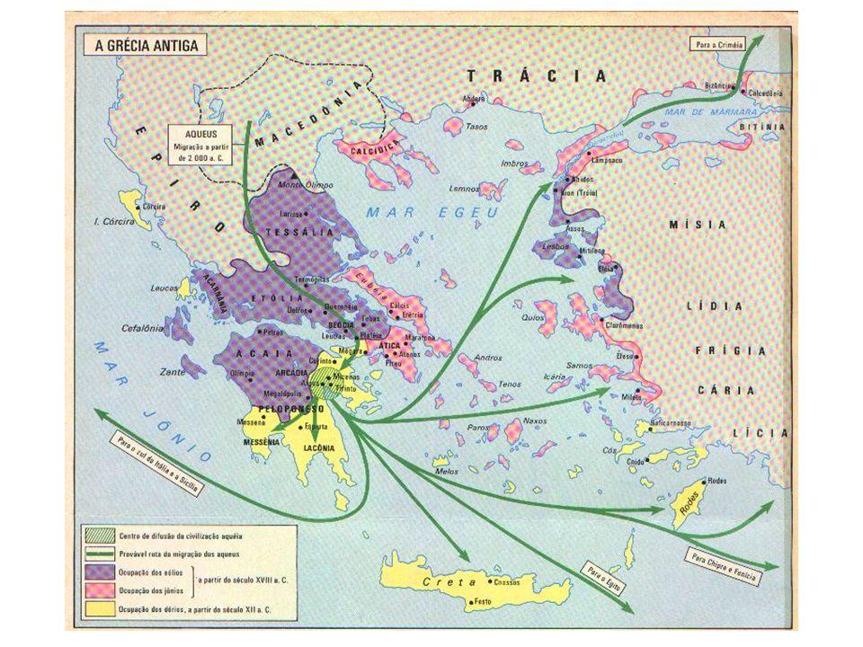 Homérico Consequências da invasão dórica Os genos (terra comunal) Fim dos genos.