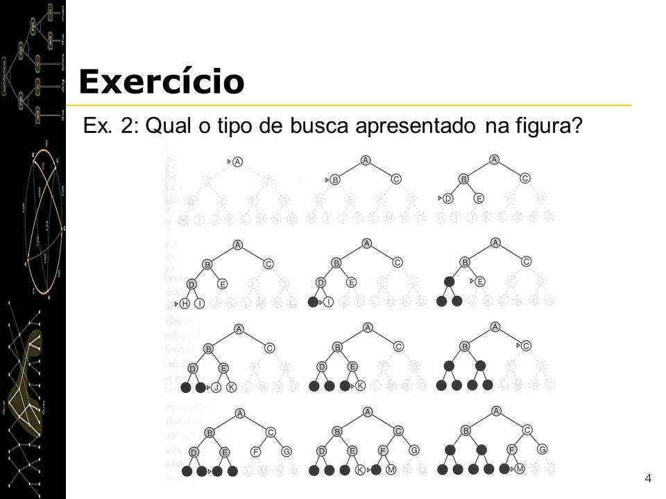 4 Exercício Ex. 2: Qual o tipo de busca apresentado na figura?