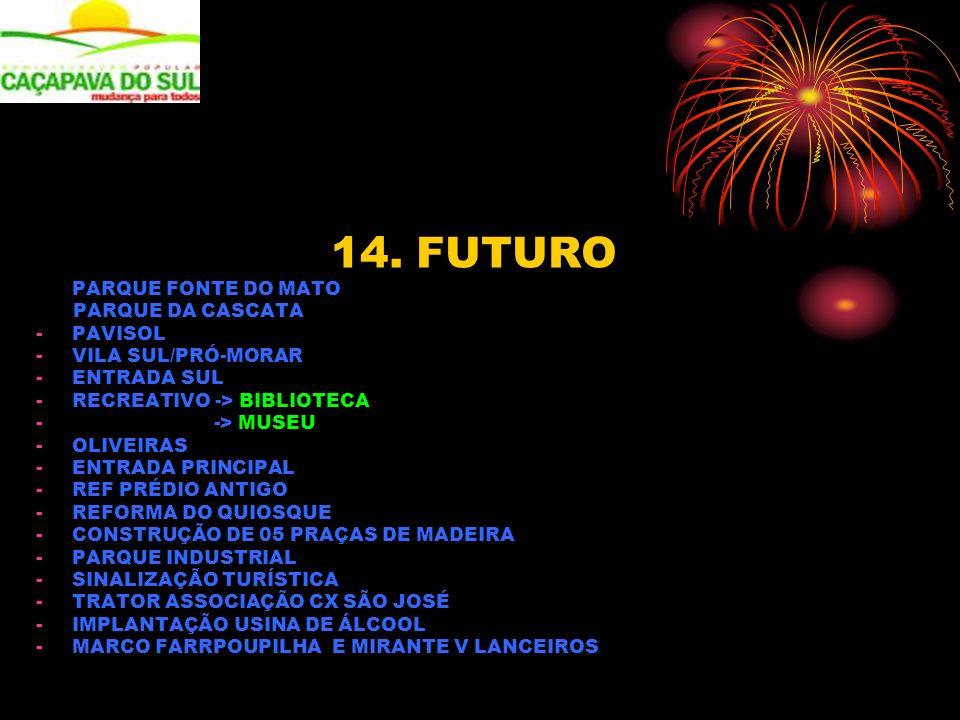 14. FUTURO PARQUE FONTE DO MATO PARQUE DA CASCATA -PAVISOL -VILA SUL/PRÓ-MORAR -ENTRADA SUL -RECREATIVO -> BIBLIOTECA - -> MUSEU -OLIVEIRAS -ENTRADA P