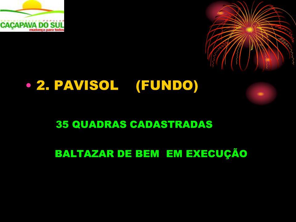 2. PAVISOL (FUNDO) 35 QUADRAS CADASTRADAS BALTAZAR DE BEM EM EXECUÇÃO