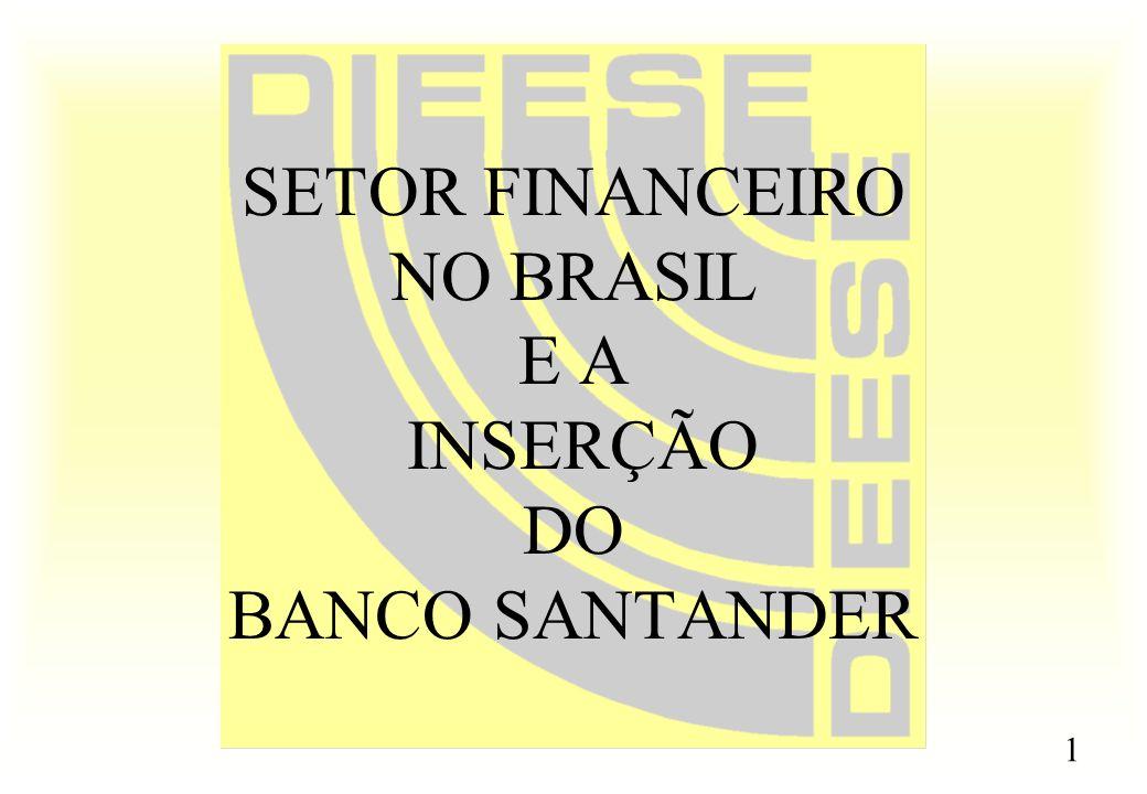 1 SETOR FINANCEIRO NO BRASIL E A INSERÇÃO DO BANCO SANTANDER