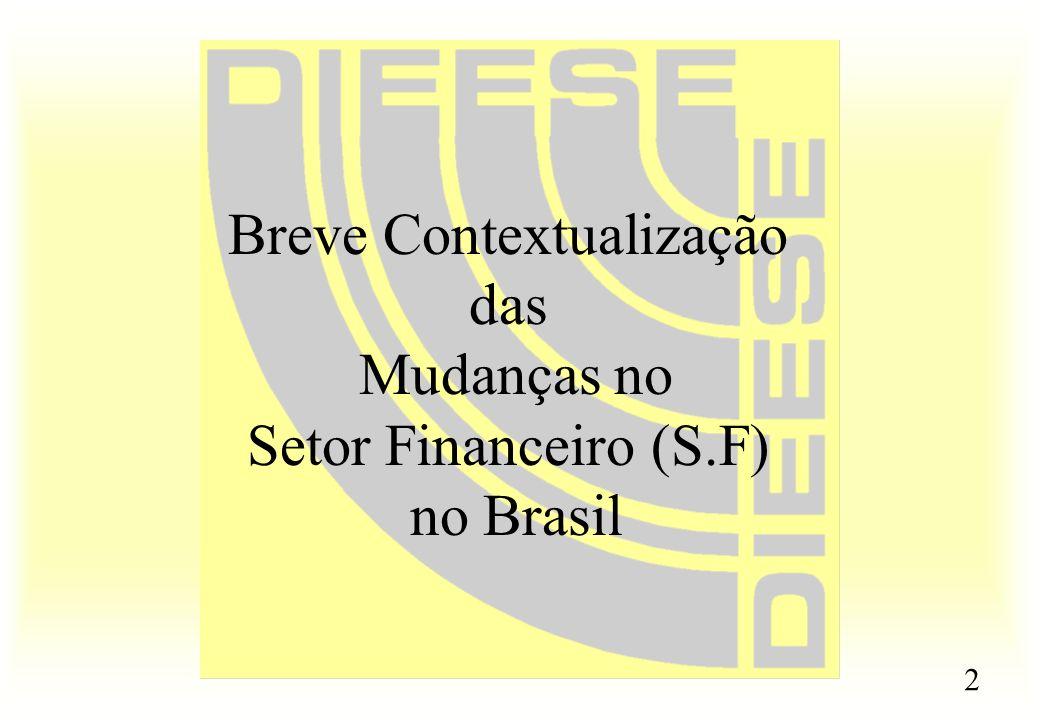 2 Breve Contextualização das Mudanças no Setor Financeiro (S.F) no Brasil