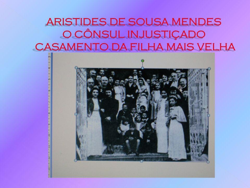 A SUA HISTÓRIA DE VIDA Aristides começou por ignorar a circular para desrespeitando totalmente as ordens que vinham de Lisboa.