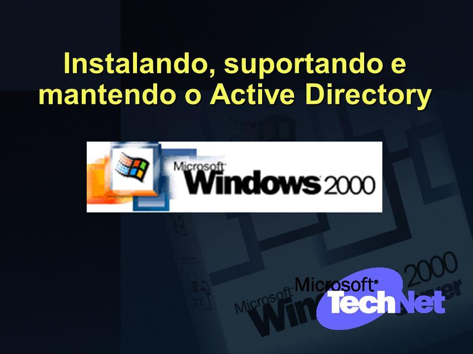 Instalando, suportando e mantendo o Active Directory