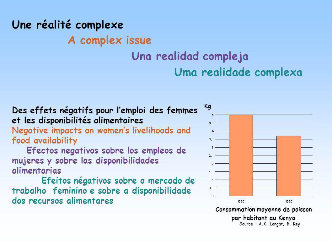 Des effets négatifs pour lemploi des femmes et les disponibilités alimentaires Negative impacts on womens livelihoods and food availability Efectos ne