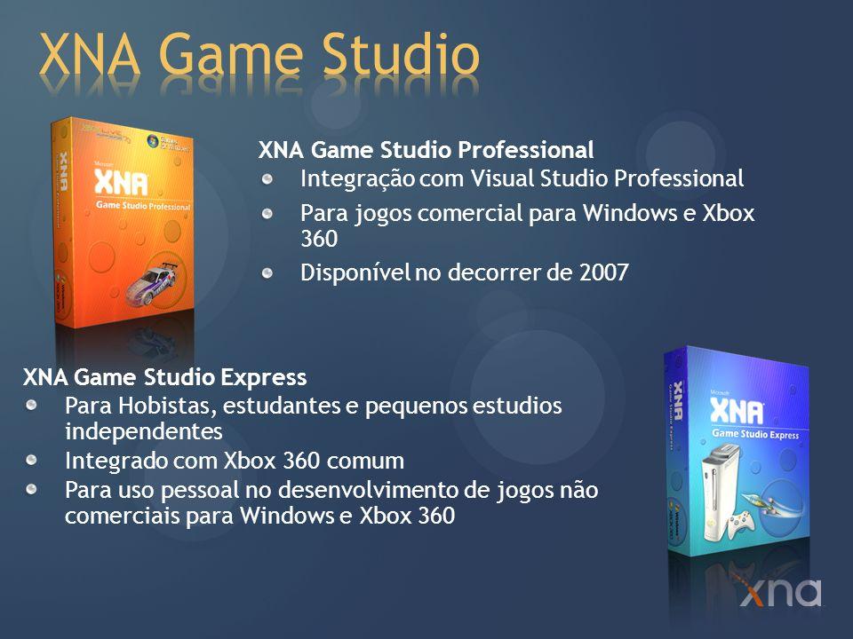 .NET 2.0 Visual Studio 2005 C# Express XNA Framework XNA Game Studio Instalando no Windows Vista Visual Studio 2005 SP1 Visual Studio 2005 SP1 para Windows Vista