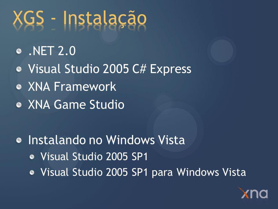 O XNA Framework é uma biblioteca.Net de desenvolvimento de jogos para Windows e Xbox 360 Plataformas Microsoft jogos Win/Xbox360 Foco no seu jogo, não na plataforma Consistente, APIs fáceis de usar