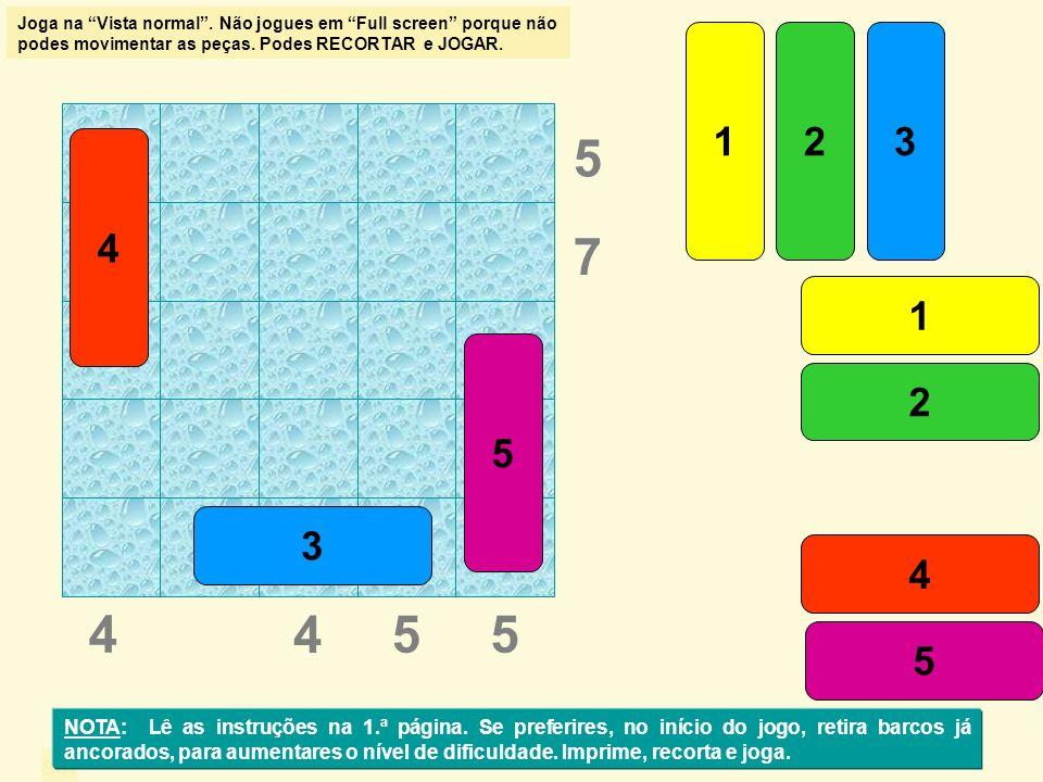 sol 5 85 6 1 2 3 4 5 1 2 3 4 5 7 6 7 NOTA: Lê as instruções na 1.ª página.