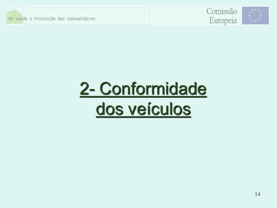 14 2- Conformidade dos veículos