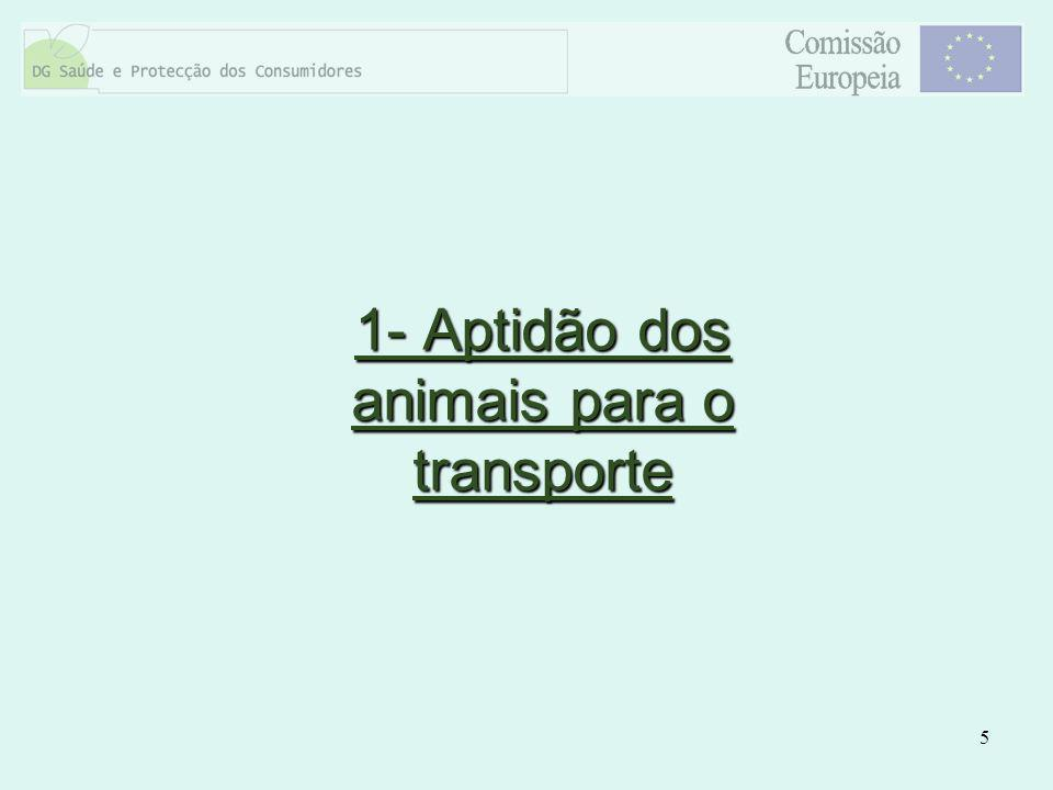 6 Os animais a bordo do camião estão de boa saúde para serem transportados?Os animais a bordo do camião estão de boa saúde para serem transportados.