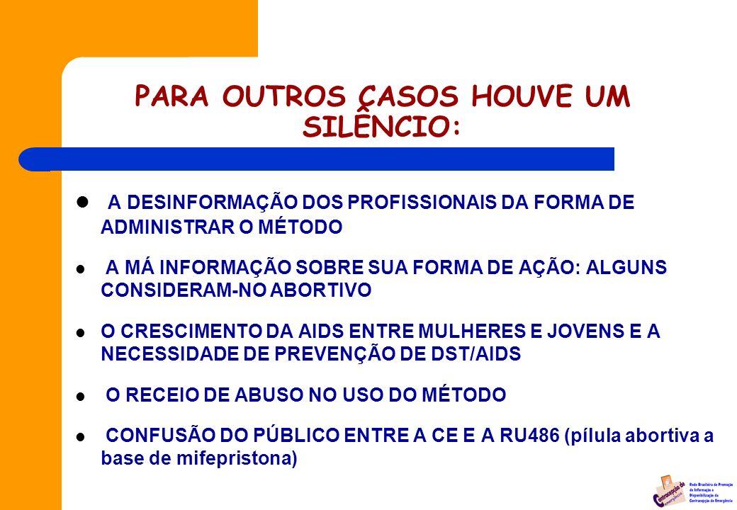 Atendimento à Mulheres Vítimas de Estupro -1999 Inclusão da CE nas Normas Técnicas de Atendimento à Mulheres Vítimas de Violência - No Brasil, esse pr