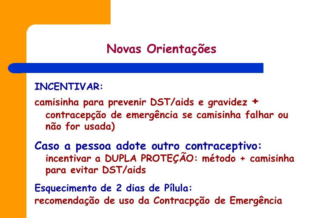 Estudos realizados no Brasil, demonstraram que divulgar e disponibilizar a CE: - Não provoca abandono de uso de outros métodos contraceptivos, por que