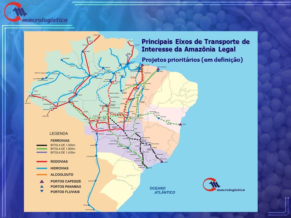 Principais Eixos de Transporte de Interesse da Amazônia Legal Principais Eixos de Transporte de Interesse da Amazônia Legal Projetos prioritários (em