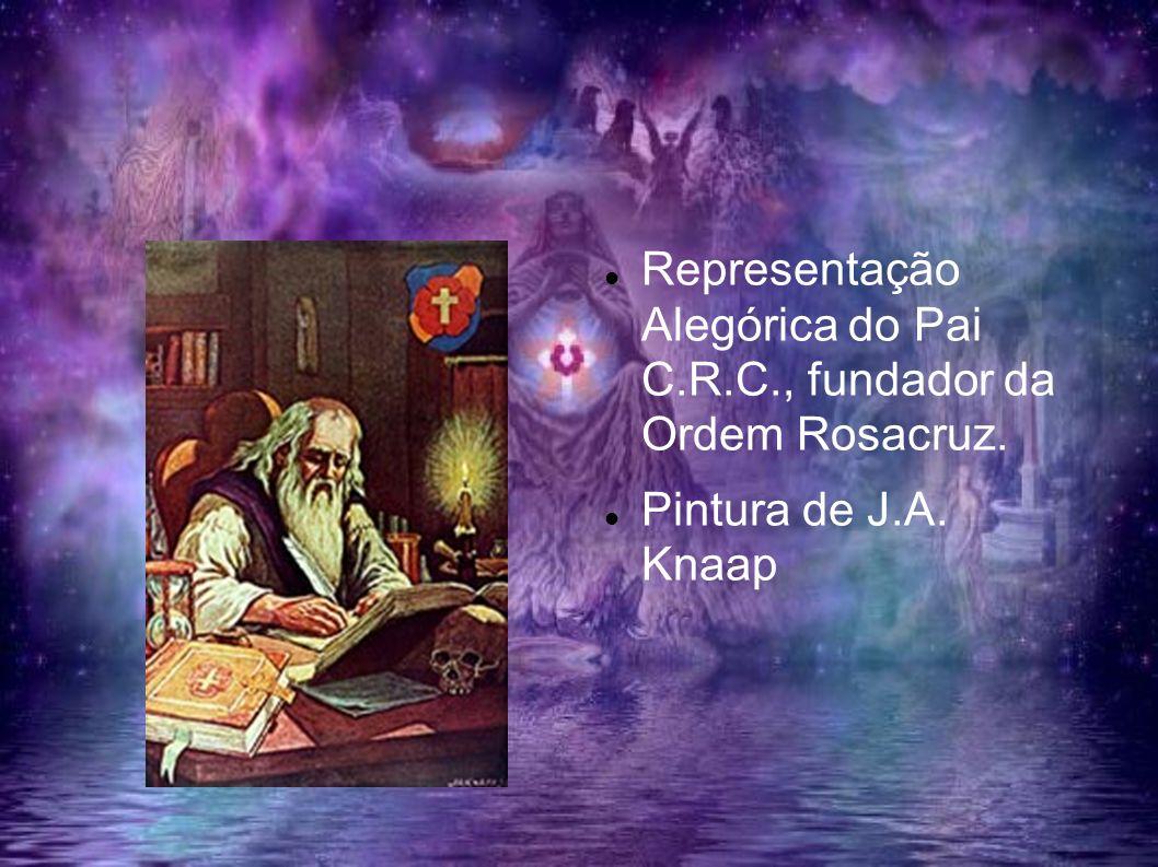 Representação Alegórica do Pai C.R.C., fundador da Ordem Rosacruz. Pintura de J.A. Knaap