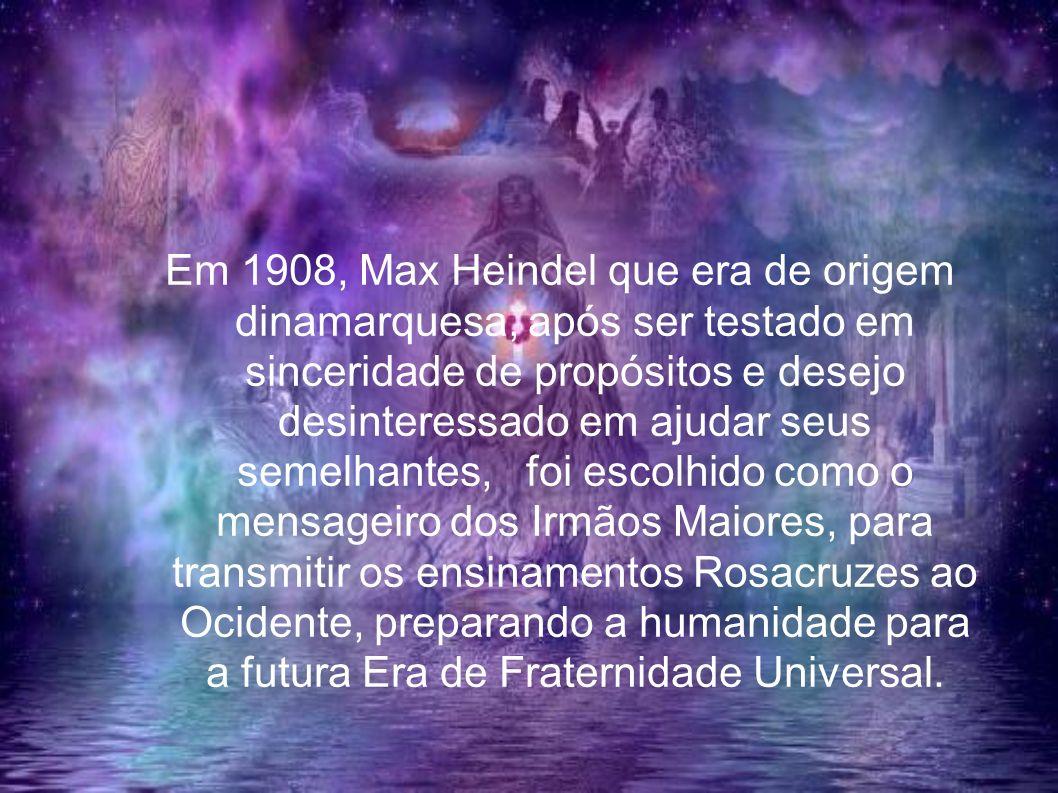 Em 1908, Max Heindel que era de origem dinamarquesa, após ser testado em sinceridade de propósitos e desejo desinteressado em ajudar seus semelhantes,