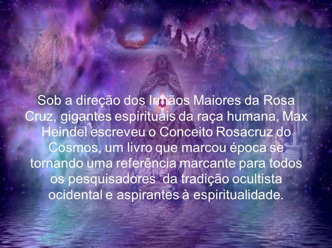 Sob a direção dos Irmãos Maiores da Rosa Cruz, gigantes espirituais da raça humana, Max Heindel escreveu o Conceito Rosacruz do Cosmos, um livro que m