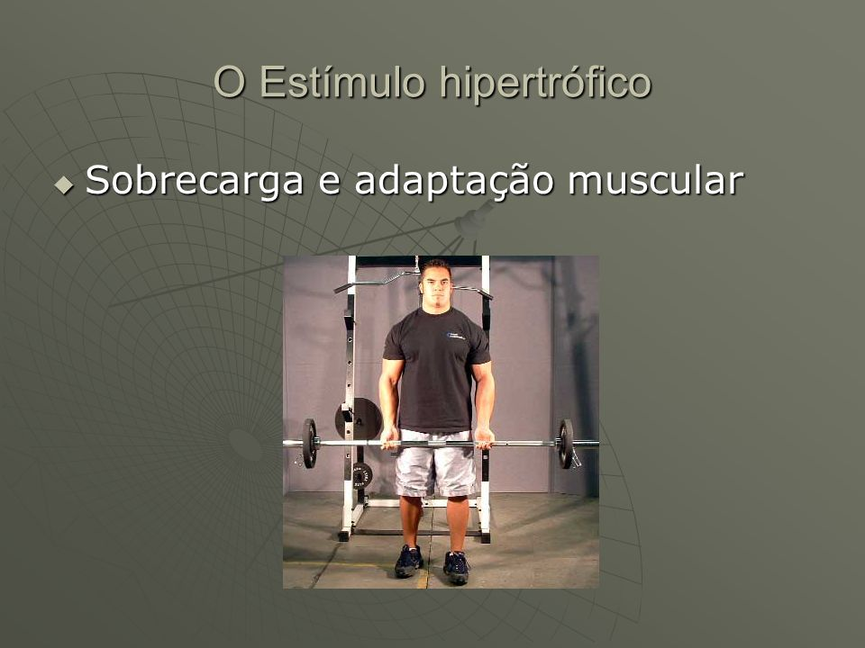 O Estímulo hipertrófico Sobrecarga e adaptação muscular Sobrecarga e adaptação muscular