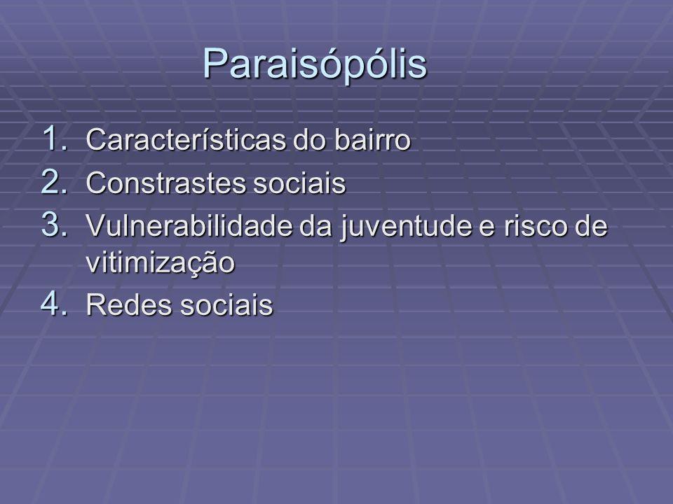 Paraisópólis 1. Características do bairro 2. Constrastes sociais 3. Vulnerabilidade da juventude e risco de vitimização 4. Redes sociais