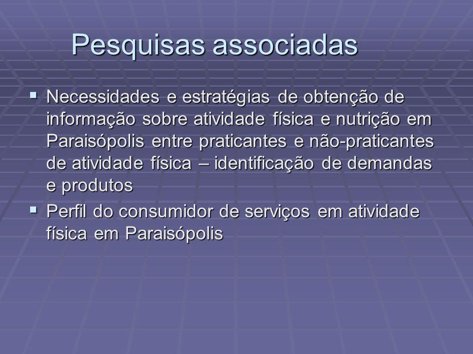 Pesquisas associadas Necessidades e estratégias de obtenção de informação sobre atividade física e nutrição em Paraisópolis entre praticantes e não-pr