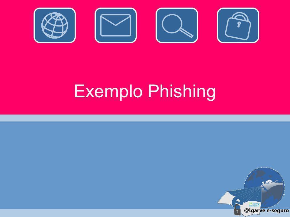 Cuidados a ter (cont.) Usar uma firewall pessoal; Ter filtros de gateway de correio eletrónico; Desligar opções de execução de JavaScript, ActiveX ou