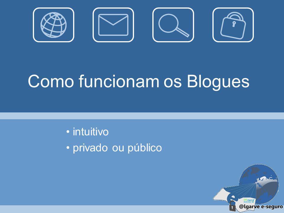 32 Blogues Um blogue é um sítio de Internet criado por uma ou várias pessoas (os bloguistas) que pretendem partilhar informação da mais variada ordem.