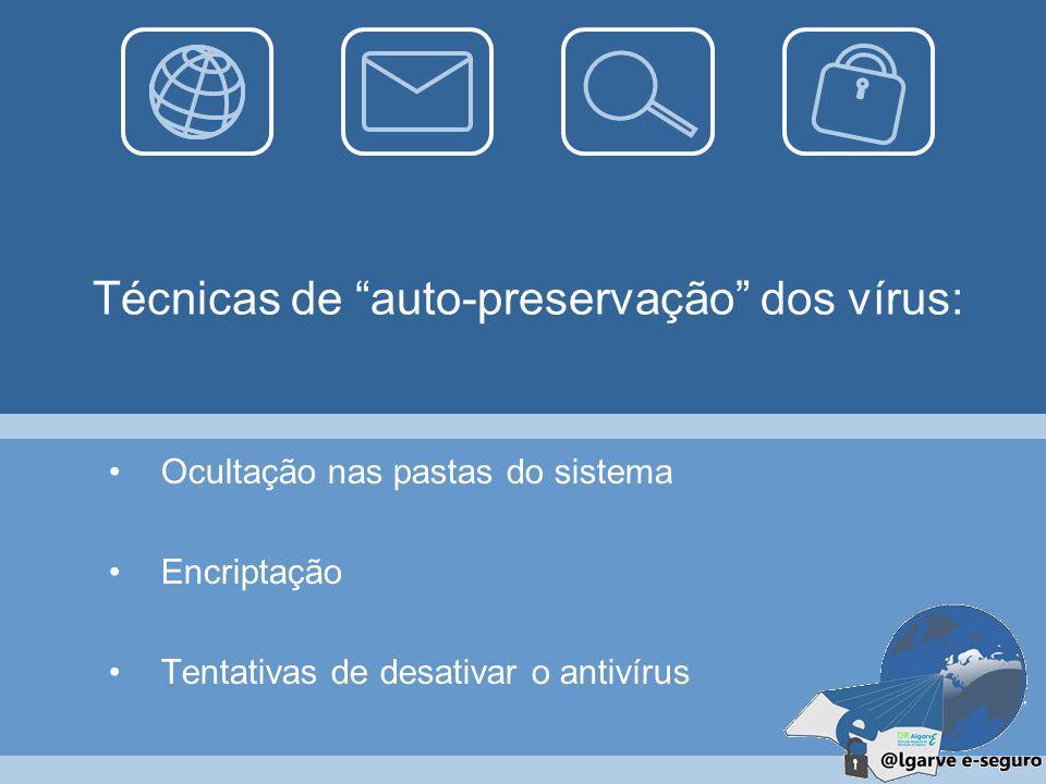 Perigos Corromper ficheiros, podendo até inutilizá-los; Sistema operativo muito mais lento; Usurpação de dados pessoais do utilizador;
