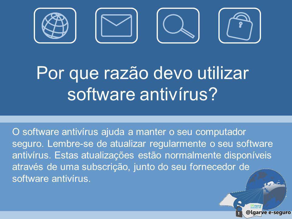 56 Antivírus É um programa informático desenhado para detetar e dar resposta a programas mal intencionados, como os vírus informáticos. Logotipo da es