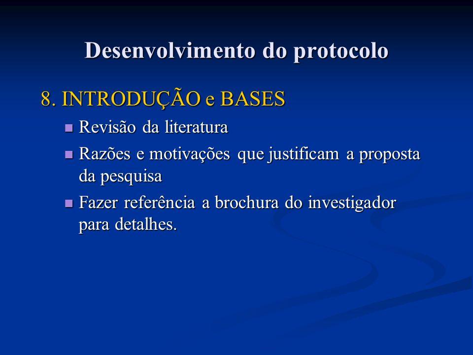 8. INTRODUÇÃO e BASES Revisão da literatura Revisão da literatura Razões e motivações que justificam a proposta da pesquisa Razões e motivações que ju