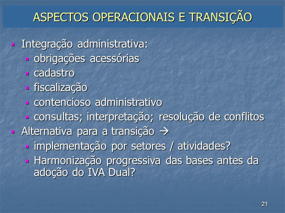 22 DESARMONIA NA TRIBUTAÇÃO ATUAL DOS BENS E SERVIÇOS Muitos tributos s/ a mesma coisa operação, ato jurídico, negócio...