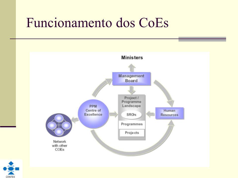 Funcionamento dos CoEs
