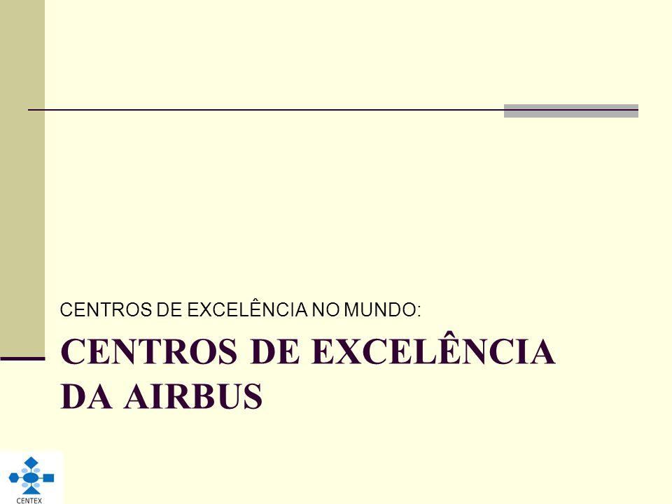 CENTROS DE EXCELÊNCIA DA AIRBUS CENTROS DE EXCELÊNCIA NO MUNDO: