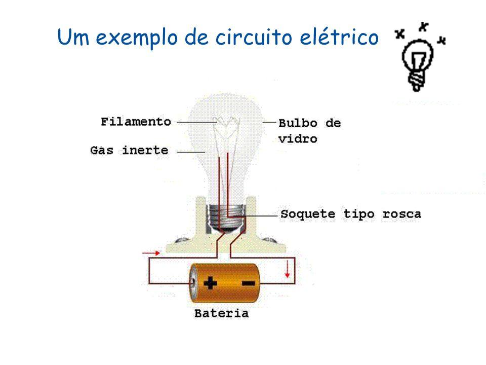 Um exemplo de circuito elétrico