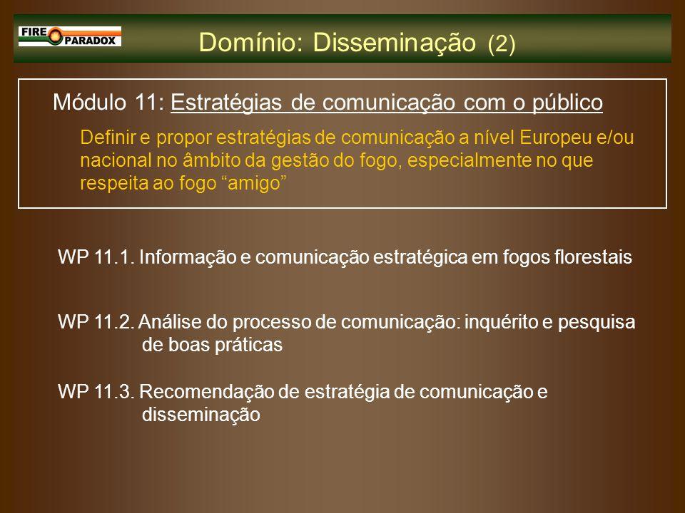 Módulo 11: Estratégias de comunicação com o público Definir e propor estratégias de comunicação a nível Europeu e/ou nacional no âmbito da gestão do f