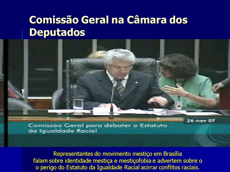 Representantes do movimento mestiço em Brasília falam sobre identidade mestiça e mestiçofobia e advertem sobre o o perigo do Estatuto da Igualdade Rac