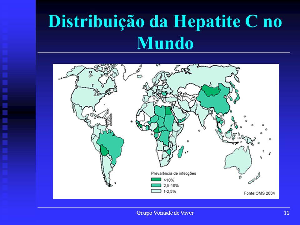 Grupo Vontade de Viver12 Entraves no Controle da Hepatite C Não há vacina; Não há vacina; Doença lenta e silenciosa (na maioria dos casos não apresenta qualquer sintoma); Doença lenta e silenciosa (na maioria dos casos não apresenta qualquer sintoma); Em 80% dos infectados, torna-se crônica em pouco tempo.
