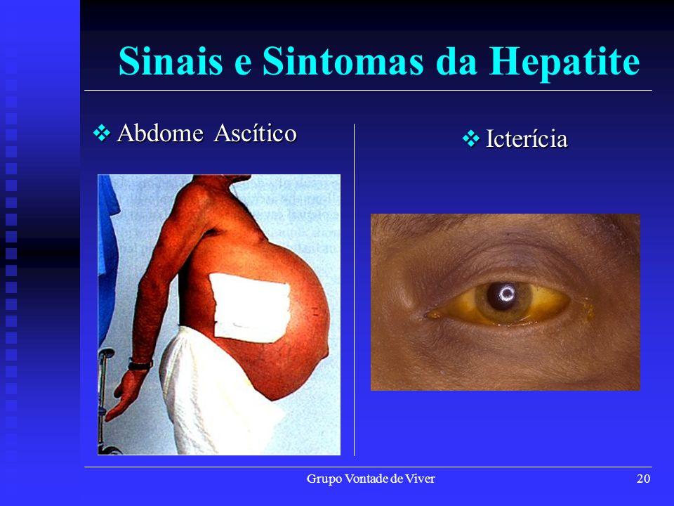 Grupo Vontade de Viver21 Fadiga Fadiga Sinais e Sintomas da Hepatite Fígado Cirrótico Fígado Cirrótico